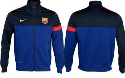 Jaket-Barcelona-SideLine-Biru-Hitam